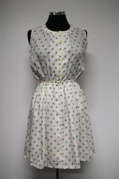 Vintage dress - light green polka dots | Bleecker Street Vintage & Homewares #bleeckerstreetvintage #vintage #dress