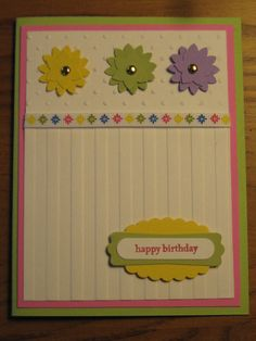 "Birthday or Thinking of You - Stampin Up ""Ice Cream Parlor"""