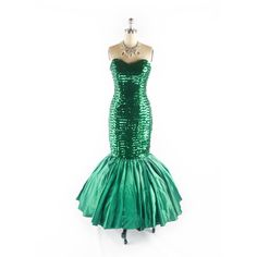 Vintage 80s MERMAID Prom Dress Sequin Dress Mermaid Dress 1980s Prom... ($348) ❤ liked on Polyvore featuring dresses, gowns, vintage prom dresses, 80s prom dress, vintage evening gowns, white evening dresses and white prom gown