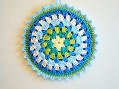 granny mandala potholder by caseyplusthree, via Flickr ~ free pattern