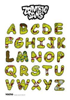 Comic Sans is dead Hand Lettering Alphabet, Graffiti Alphabet, Alphabet Art, Creative Lettering, Cool Lettering, Graffiti Lettering, Lettering Ideas, Font Art, Typography Fonts