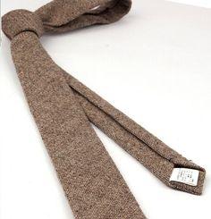 Wool Ties.Brown Ties for Men.Wool Wedding Ties.Mens Wool by GuuuW
