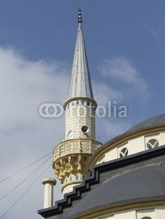 Minarett einer Moschee in der türkischen Provinz in Dogancay am Sakarya Fluss bei Adapazari in der Türkei