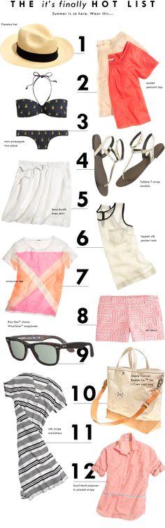 I want it all!!! LOL   The Summer List - J.Crew