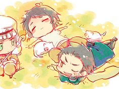Hetalia - Egypte, Grece & Turkey : Nap with the Med Trio