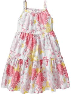 Tiered Floral Sundresses for Baby