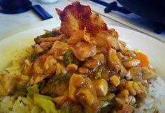 Zöldséges csirkeragu Norbi06 konyhájából Chicken, Meat, Recipes, Drinks, Food, Drinking, Beverages, Essen, Eten