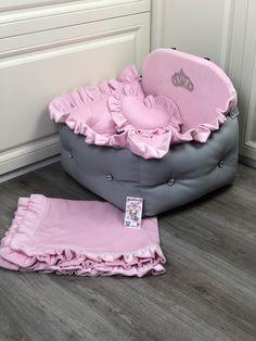 Custom Car Seats, Dog Car Seats, Custom Cars, Bed Measurements, Small Pillows, Pink Dog, Cozy Bed, Pet Names, Dog Harness