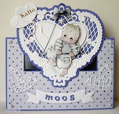 Voorbeeldkaart - baby kaart - Categorie: Stansapparaten - Hobbyjournaal uw hobby website