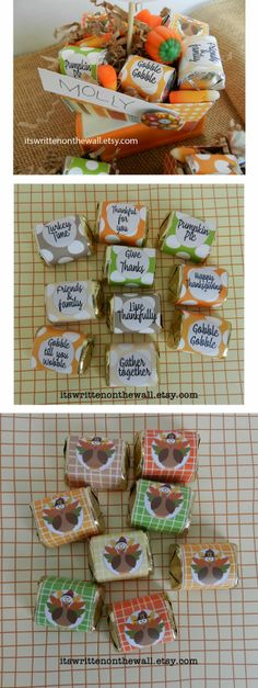 Treats for Thanksgiving-Nugget Wraps and placecard treat boxes for the kids....plus lots more!