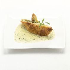 Taartje met brie en groene asperges