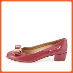 664dc7c8e17732 JOOGO Ladies Women s Handmade Low Heel Rounded Toe Bowkont Flat Dress Shoes  Dark Pink US15 - Flats for women ( Amazon Partner-Link)