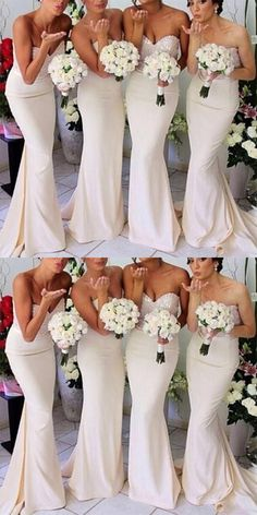 On Sale Soft Sexy Bridesmaid Dress Sexy Sleeveless Mermaid Sweet White Long Sequins Popular Bridesmaid Dresses,Bridesmaid Gown Affordable Prom Dresses, Unique Prom Dresses, Sexy Wedding Dresses, Perfect Wedding Dress, Dream Wedding, Modest Wedding, Cheap Dresses, Bridal Dresses, Wedding Gowns