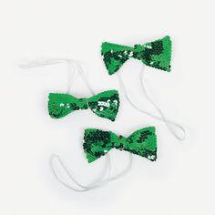 Green Sparkling Bow Ties - OrientalTrading.com