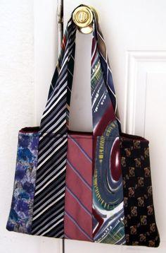 Necktie purse. Uses 10 neckties.