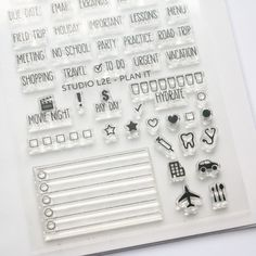 Plan It - filofax / planner stamp set from studiol2e. I WANT THIS!
