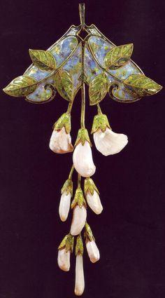 Art Nouveau Georges Fouquet Brooch sweet peas