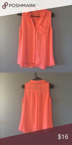 The limited coral blouse Great condition only wore once The Limited Tops Button Down Shirts