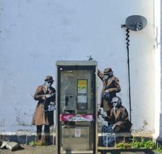 Street Art & Graffiti. Looks like Banksy needs to phone a friend.    Source: http://globalstreetart.com/