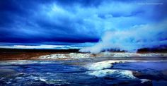 Sulfur hot springs, Hverir, near Myvatn lake, North Iceland by Xenya Photography on Iceland Places To Visit, Places To See, North Iceland, Iceland Landscape, Iceland Photos, Interactive Map, Hot Springs, Waterfall, Challenges