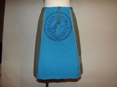Tshirt Skirt / M / Recycled / Upcycled / Hand by MARUKAWEAR, $40.00