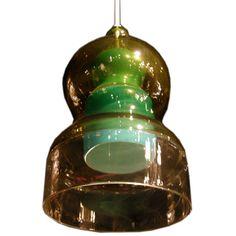 Hand Blown Glass Bell Pendant Light Fixture by Salviati Hanging Light Fixtures, Pendant Light Fixtures, Hanging Lights, Hand Blown Glass, Glass Pendants, Ceiling Lights, Lighting, Awesome, Pendant Lights