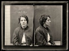 Mesmerizing, uncanny: 35 fascinating faces, glimpses into 35 complicated lives: vintage female mug shots