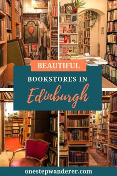 These 12 beautiful Edinburgh bookstores are a must-visit for any book lover, whether you need a new read or just want to spend an afternoon browsing the stacks of a secondhand bookshop. Scotland Travel Guide, Europe Travel Tips, Scotland Vacation, Scotland Trip, Italy Travel, Oh The Places You'll Go, Cool Places To Visit, Literary Travel, Travel Books