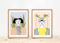 Women - prints - 8 x 11.5 - A4 - by Depeapa