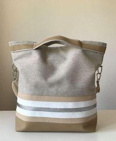 Women bag beige, silver, white, fashion, – Homemadebypatricia – 2018 New Louis Vuitton Handbags Collection for Women Fashion Bags summer fashion outfits. Sac Week End, Diy Bags Purses, Diy Handbag, Patchwork Bags, Denim Bag, Fabric Bags, Cloth Bags, Handmade Bags, My Bags