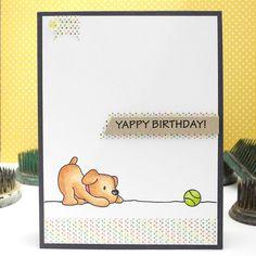 Yappy Birthday by Jennifer Ingle #spectrumnoir #mamaelephant #cards