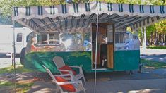 A new vintage-style awning extends the living space to the great outdoors.