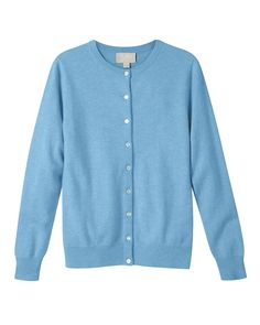 Cashmere Cardigan in Azure: Pure Collection