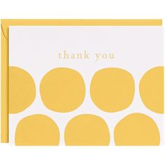 yellow thank you cards