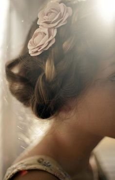 cute hair with rose