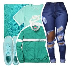 """"""""""" by pinksemia ❤ liked on Polyvore featuring NIKE"""