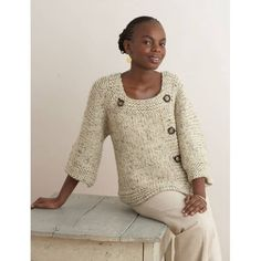 Extra Easy Extra Fabulous Sweater Pattern (Knit) - Lion Brand Yarn