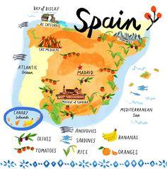 Kids Map Of Spain.Map Of Spain For Kids In 2019 Map Of Spain Spain Map