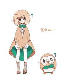 Tags: Anime, Pixiv Id 3500194, Pokémon, Rowlet, Question Mark, :<