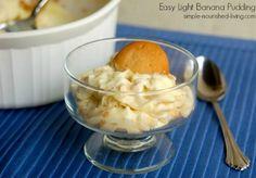 Easy Light Banana Pudding Recipe | Weight Watchers Friendly Recipes