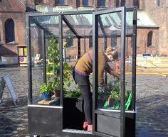 Stylish Urban Greenhouse on Wheels - Urban Gardens