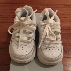 cheap for discount 45673 38458 Toddler Air Force Ones Size 3 Toddler White Nike Air Forces Nike Shoes  Athletic Shoes