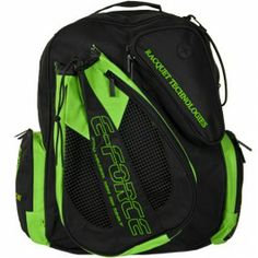 E-Force Racquetball Backpack Bag Green