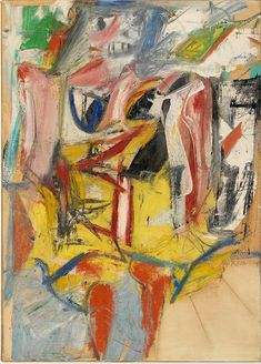 """""""Woman"""", by Willem de Kooning Willem De Kooning, Robert Motherwell, Cy Twombly, Action Painting, Painting & Drawing, Gerhard Richter, De Kooning Paintings, Oil Paintings, Art Fauvisme"""