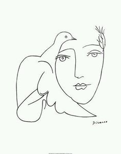 Pablo Picasso's Line drawings / from Authentic Fauxhemian