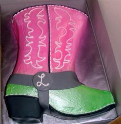 Wedding Shower Cowgirl Boot