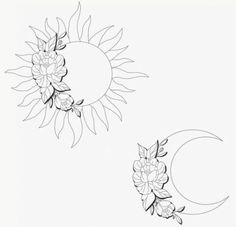 ideas for tattoo ideas moon inspiration - Tattoos Bff Tattoos, Tattoos Hipster, Simbolos Tattoo, Form Tattoo, Bestie Tattoo, Shape Tattoo, Best Friend Tattoos, Cute Tattoos, Body Art Tattoos