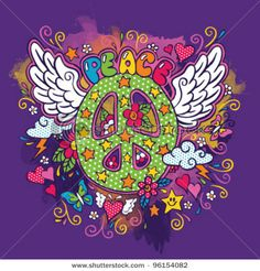 Peace Sign Doodle (Hand Drawn) by SPYDER, via Shutterstock
