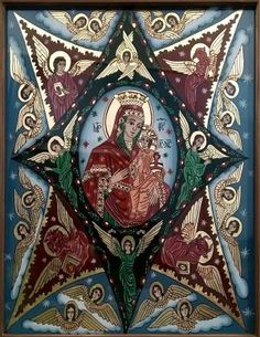 Maica Domnului Religious Icons, Religious Art, Blessed Virgin Mary, Madonna, Spiderman, Christian, Statue, Glass, Artwork