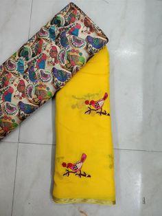 Latest georgette saree with blouse   Elegant Fashion Wear